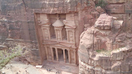 jordan: The Treasury Petra Jordan Stock Photo