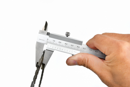 Vernier calipers with hand