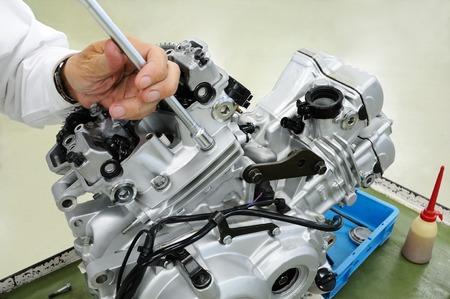 オートバイのエンジンの改善 写真素材