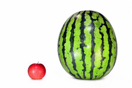 Watermelon and apples Stockfoto