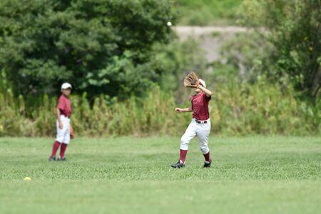청소년 야구 연습 스톡 콘텐츠