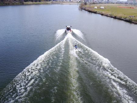 See aerial wake Board