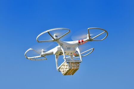 Drone experimentation in the delivery of
