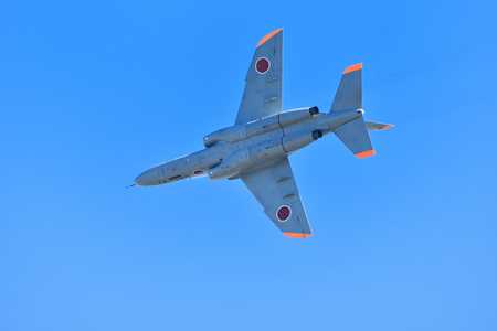 The jasdf t-4 trainer aircraft Stock Photo