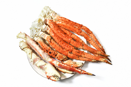 Boiled snow crab legs Stock Photo