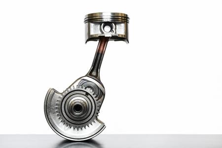 Crankshaft of single cylinder engine Stock Photo