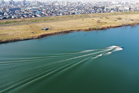 Drone to shoot a wakeboard
