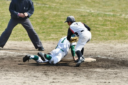 Boys baseball game Banco de Imagens