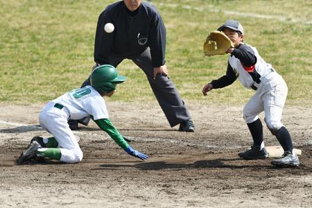 Boys baseball game