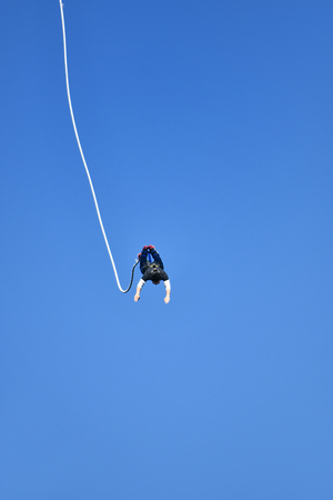 Men Bungee Jumping