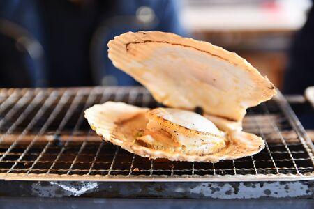 Barbecued scallops Stock fotó
