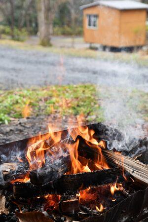 Camp Bonfire Фото со стока