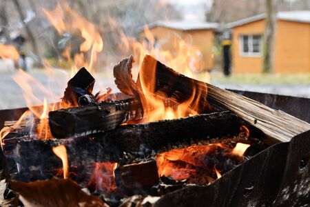 Camp Bonfire 写真素材