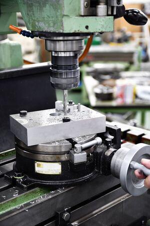 Milling machine in progress