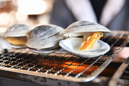 Hongbinos Shell Fish Barbecue 免版税图像