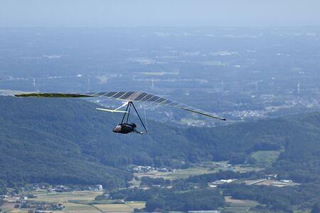 Take off hang glider 写真素材