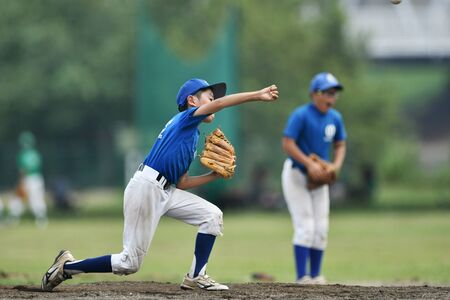 a boy practicing pitching