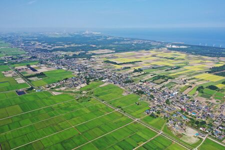 Aerial view of The Womb City, Niigata Prefecture
