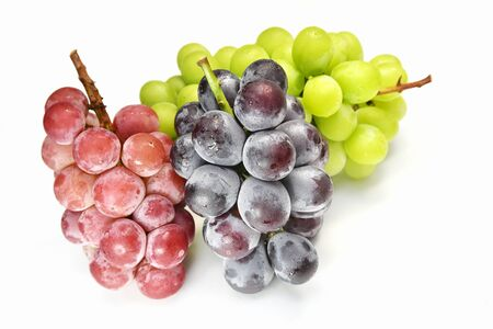 Large grapes with a white background