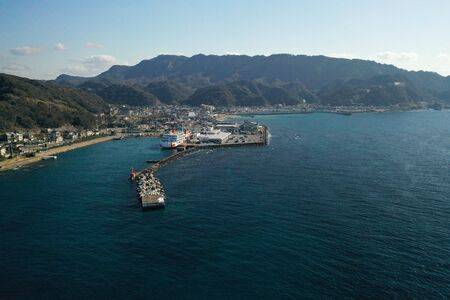 Aerial photography of Kanaya Port in Chiba Prefecture