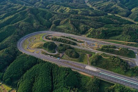 Aerial photograph of the Motegi test site of Nissan Motor Co., Ltd. 新聞圖片