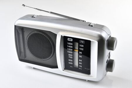 White Background Radio
