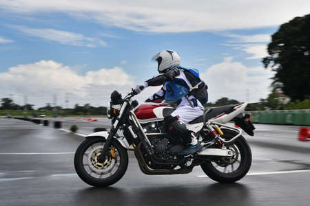 Safety driving training for motorcycles