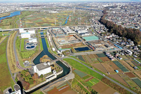 Aerial photography of Ichikawa Pump Station