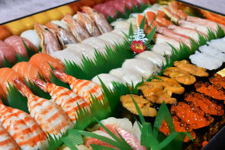 Take-home sushi for parties