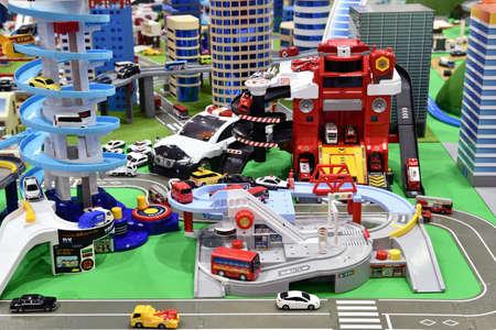 Toy Townscape Standard-Bild