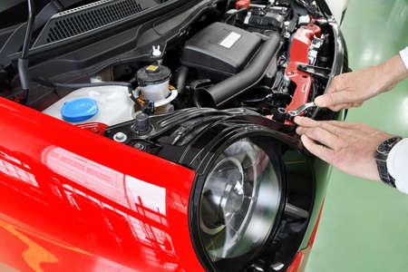 Mini vehicles under maintenance