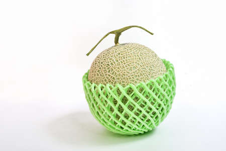 Muskmelon wrapped in cushioning material