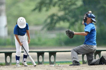Little League Hitter Practice