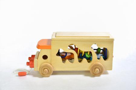 Toy Wooden Automobile Stockfoto