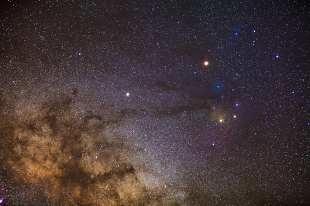nebulae: Star field and nebulae in Rho Ophiuchus Captured with an amateur DSLR Camera