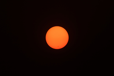 visible: Chiang Mai THAILAND, April 17,2016 : The Sun seen from planet Earth, with sunspots visible as dark spots compared to surrounding regions (Real photo with my camera no NASA images used) Editorial