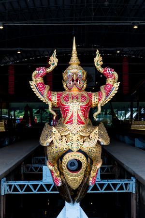 auspicious occasions: Bangkok, Thailand - JUL 23, 2016: The royal barge is maintained in Royal Barges Museum in Bangkok. The royal barges are reserved for auspicious ceremonies and state occasions only.