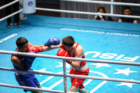 CHIANGMAI , THAILAND - OCT 4 2016: Unidentified players in Boxing at Chiang Mai University,Thailand