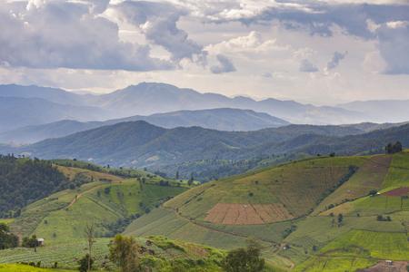 매 잼 산, 치앙마이, 태국의 아침보기