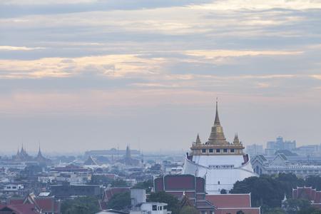 Golden mount temple (wat sraket rajavaravihara) Stock Photo