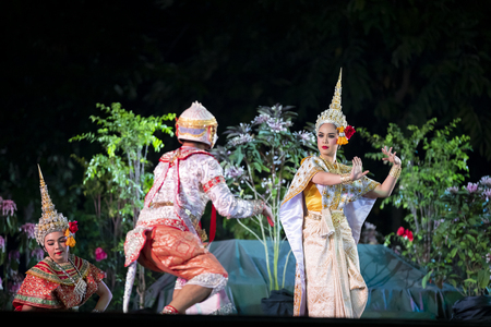 CHIANG MAI, THAILAND - JAN 26, 2019 : Thailand Dancing in masked