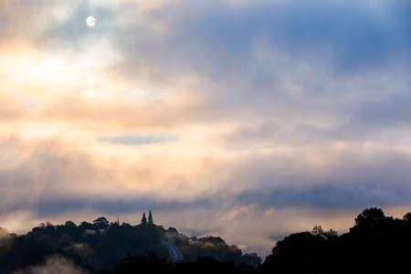 Sunrise In Chiang Mai City And Prathat Doi Suthep Temp, Chiang Mai Thailand.