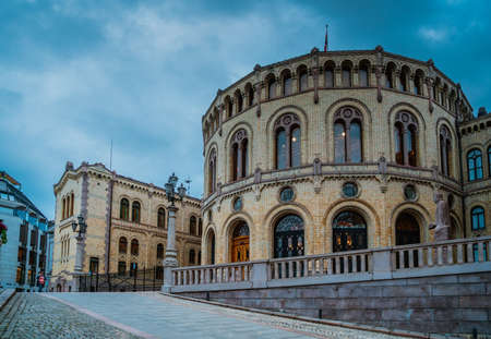 The Norwegian parliament called Stortinget located in Oslo