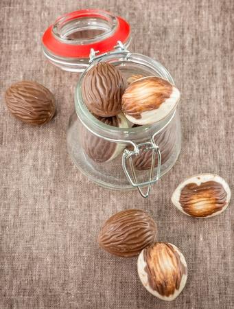 pralines: Assorted chocolate pralines