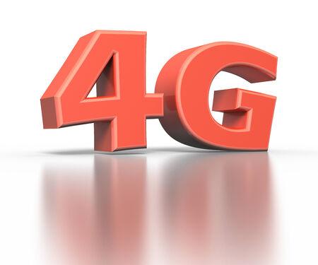 4G icon. Wireless communication technology concept photo