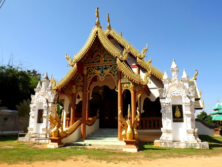 architectural style: Burmese Architectural Style of templeChaingraiNorthern Thailand