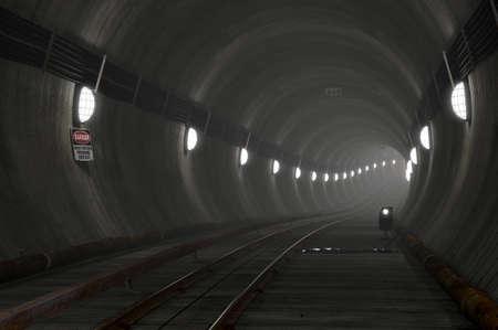u bahn: Underground Subway Scene Stock Photo