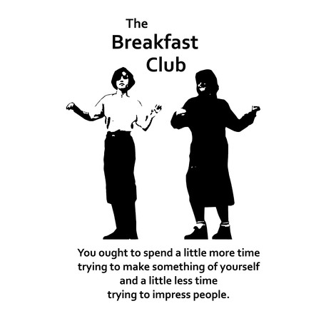 Allison Reynolds from Breakfast club qoute on black and white vector4.