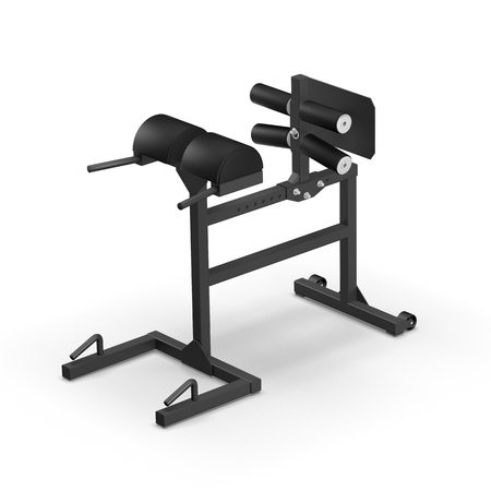 masculinity: Glute Ham Developer GHD training apparatus isolated on white background 3D illustration render