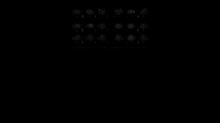 electricity post: stadium flood lights turned off on a black background 3d render illustration front